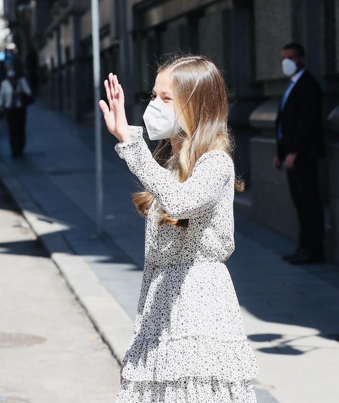 Princesa de Asturias, Leonor, en su primer acto público. 24 marzo 2021.  (17)