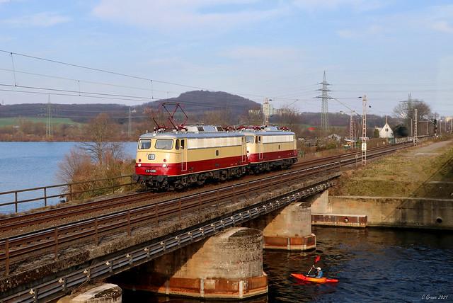 TRI E10 1309 und 112 268-8 bei Wetter/Ruhr, 24.03.2021