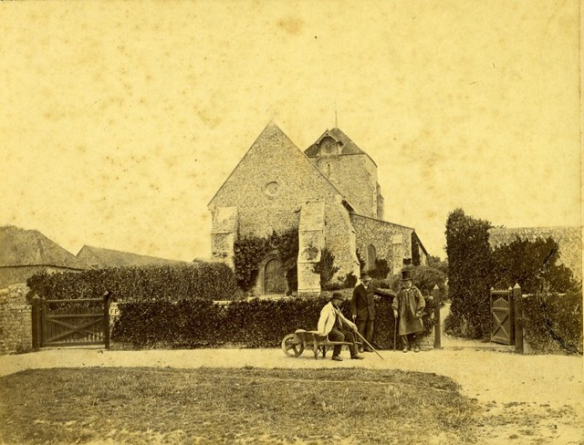 Church with farm workers