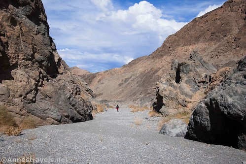 The lower part of Grotto Canyon later in the day, Death Valley Ntional Park, California