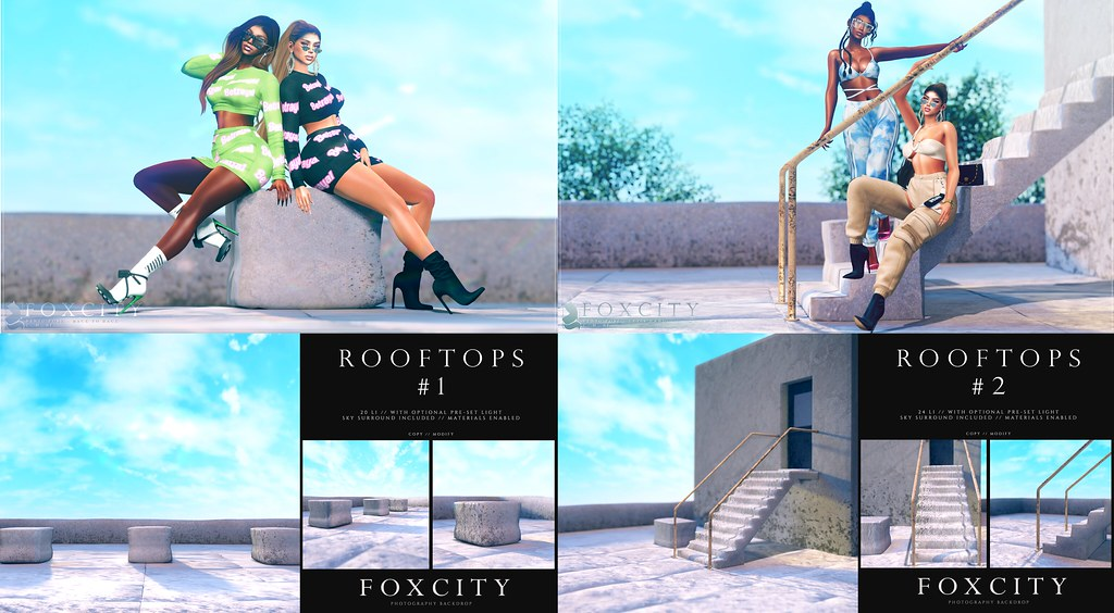FOXCITY. Let's Hang & Back To back // Rooftops