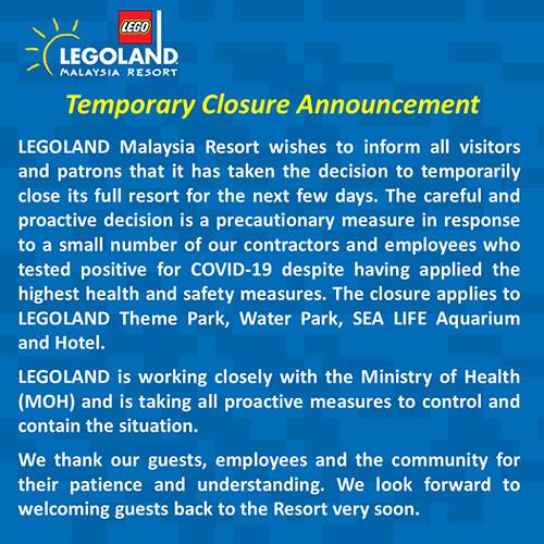 legoland closed