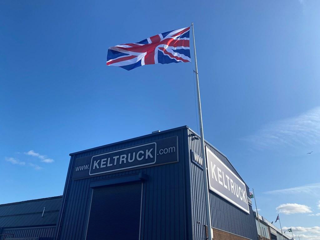 Flags at Keltruck Scania