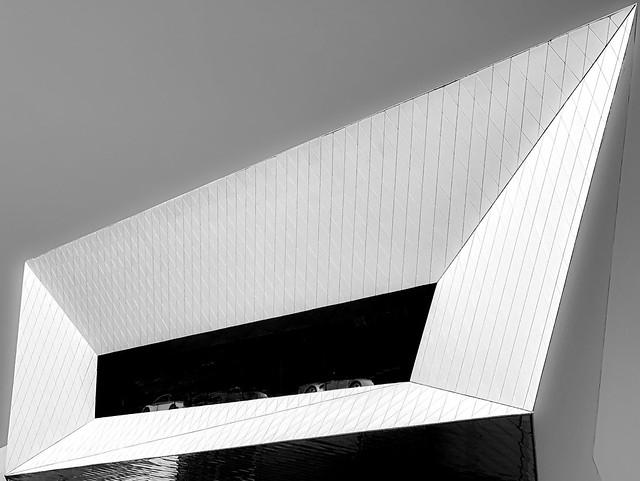 futuristic garage