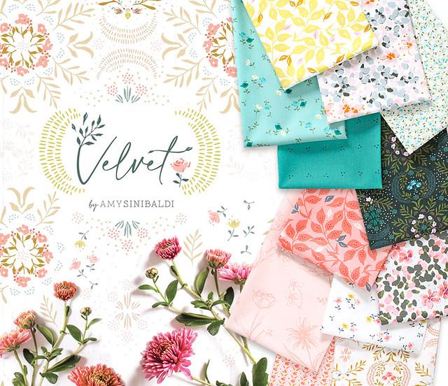Art Gallery Fabrics Velvet Collection by Amy Sinibaldi
