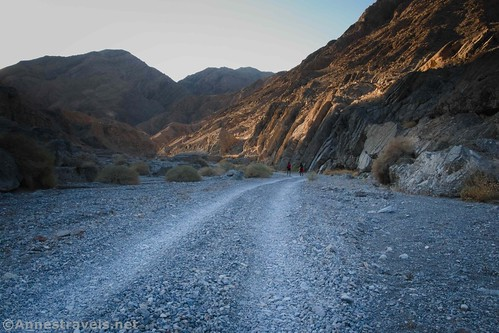 Walking up the Grotto Canyon Road, Death Valley National Park, California