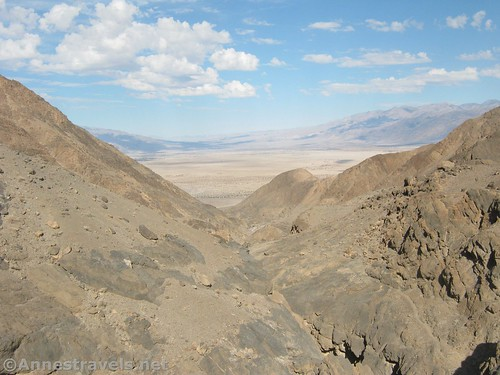 Views down over Grotto Canyon Death Valley National Park, California
