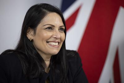 Home Secretary Priti Patel speaks at the G6