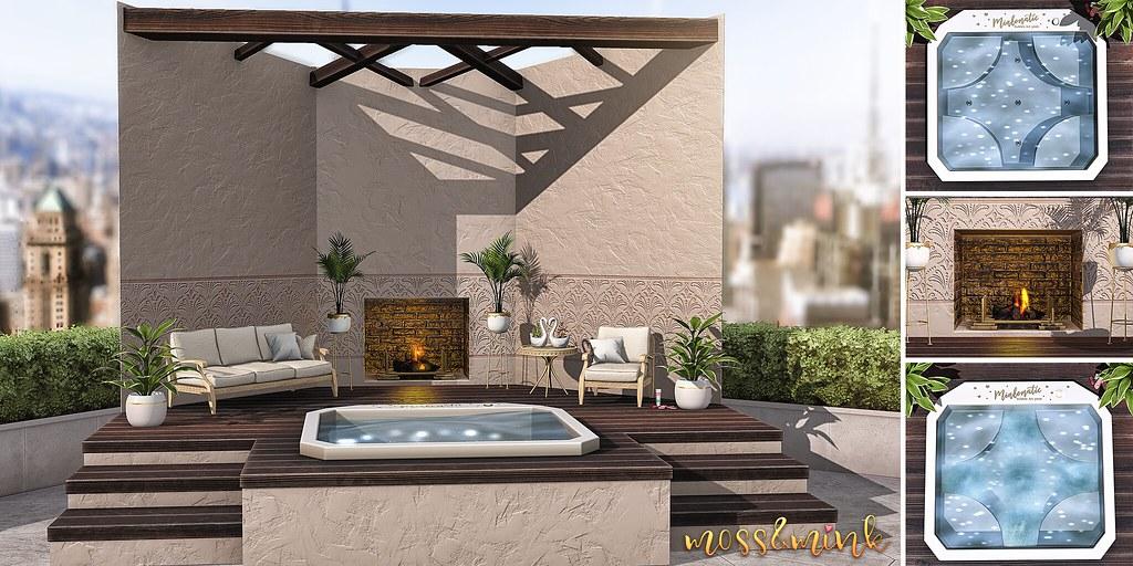 {moss&mink} – Serene Hot Tub Patio