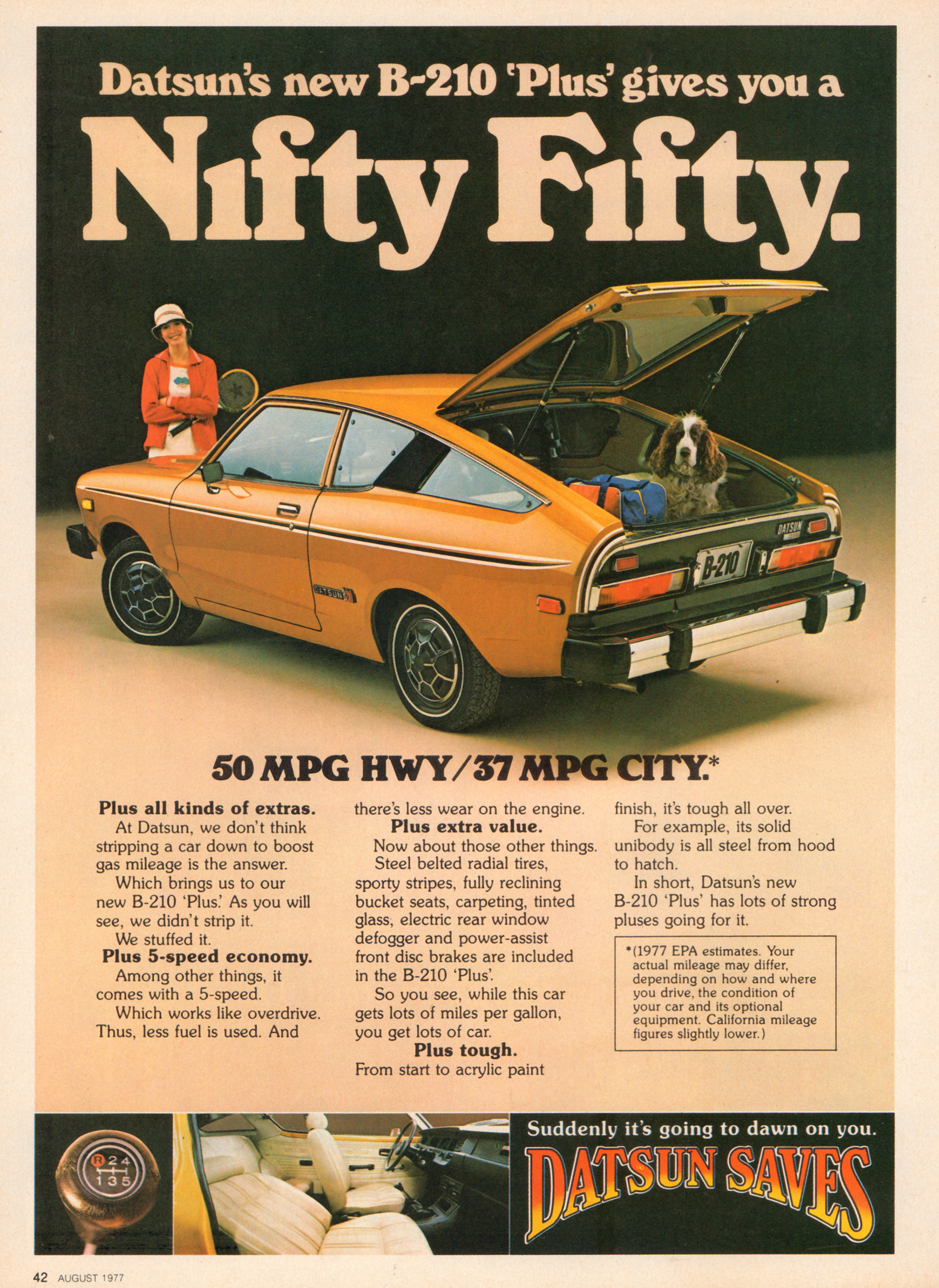 1977 Datsun B-210 - published in Motor Trend - August 1977