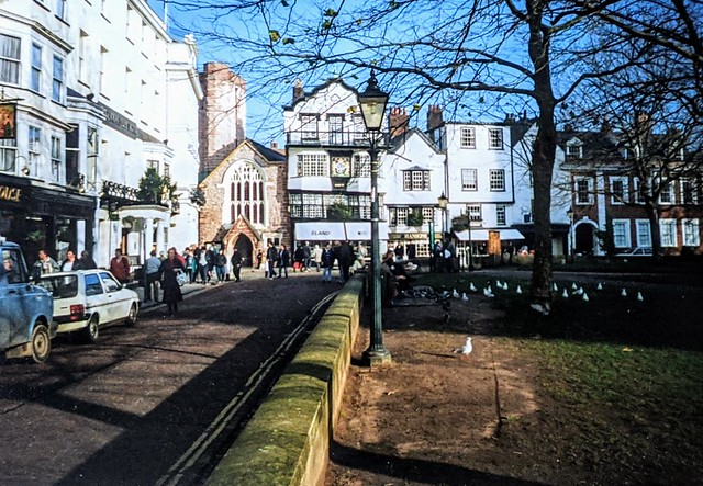 Cathedral Close in Exeter
