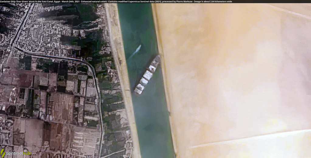 Container Ship 'Ever Given' stuck in the Suez Canal, Egypt… | Flickr