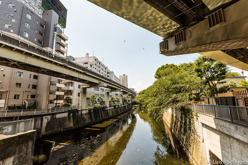 Río Kanda con el parque en un extremo