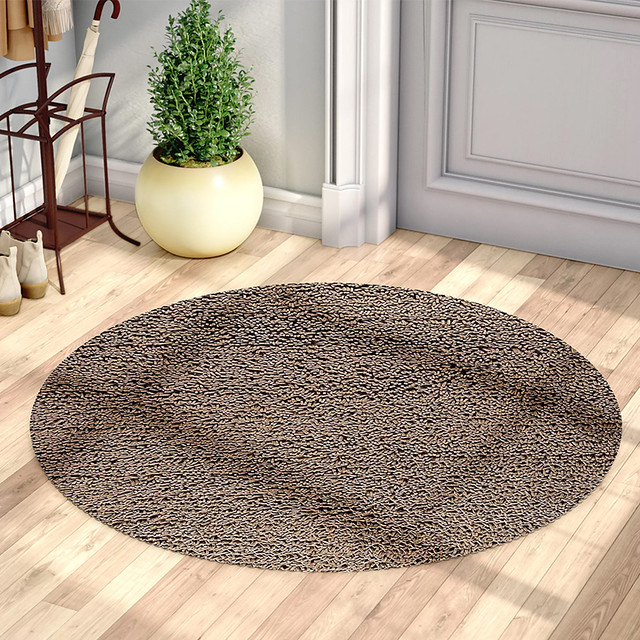 Round Area Rug Brown