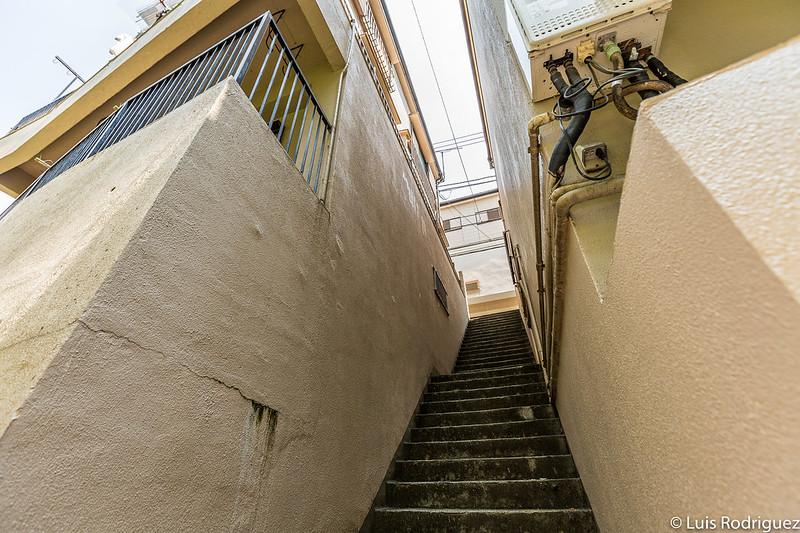 Escaleras en algunas cuestas y callejones en pendiente de Bunkyo