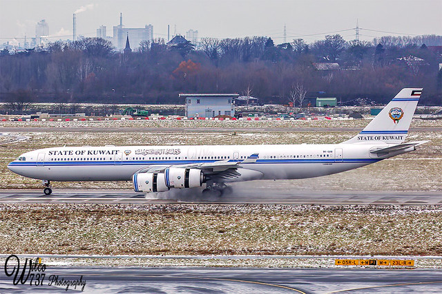 State of Kuwait Airbus A340-500 at DUS (9K-GBB)