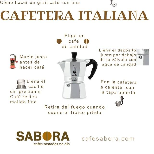Hacer café con una cafetera italiana