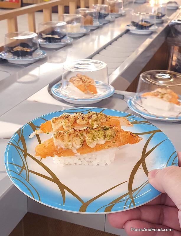 sushi jiro crab stick mentaiko