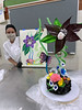 UH Maui College culinary student Amber Kalish with her concept and sugar creation.