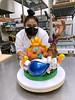 UH Maui College culinary student Pomai Kina with sugar creation.