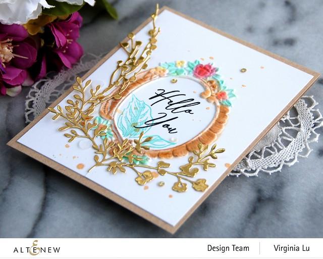 Altenew-Branches & Berries Die-Baroque Frame Embossing Folder-Vintage Garden Stamp Set -003