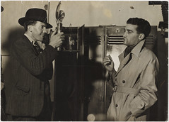 Ted Hood photographing journalist Leo Basser, 1937