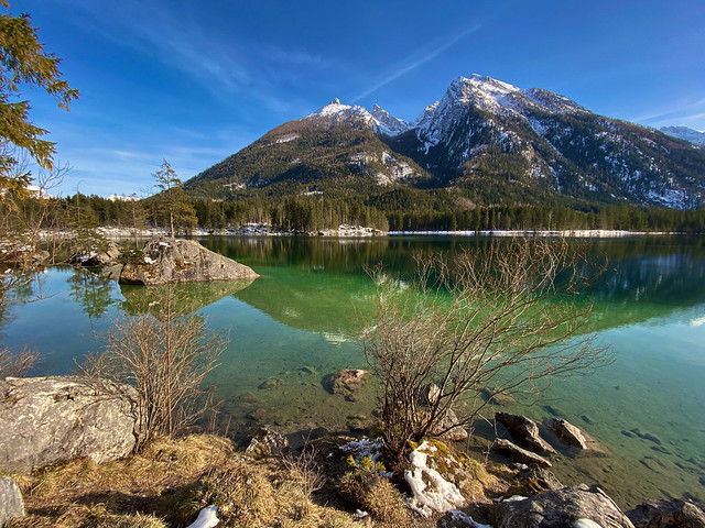 Hintersee lake, Berchtesgaden Alps