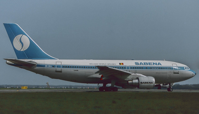 OO-SCA Sabena A310-222 at AMS 1985 (Rescanned)
