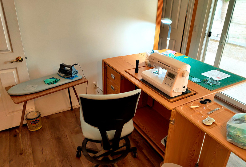 Sewing Cabinet in Use!