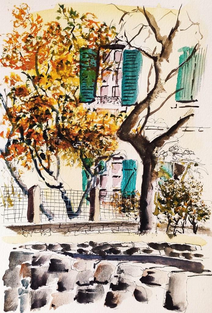 Dans la rue Louis Lessart à Ploemeur