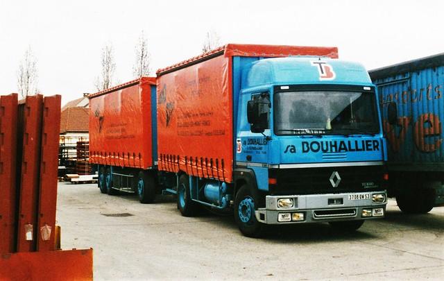 Renault R340-19t Turboliner Transports Bouhallier Bonneuil (94 Val de Marne) 1990a