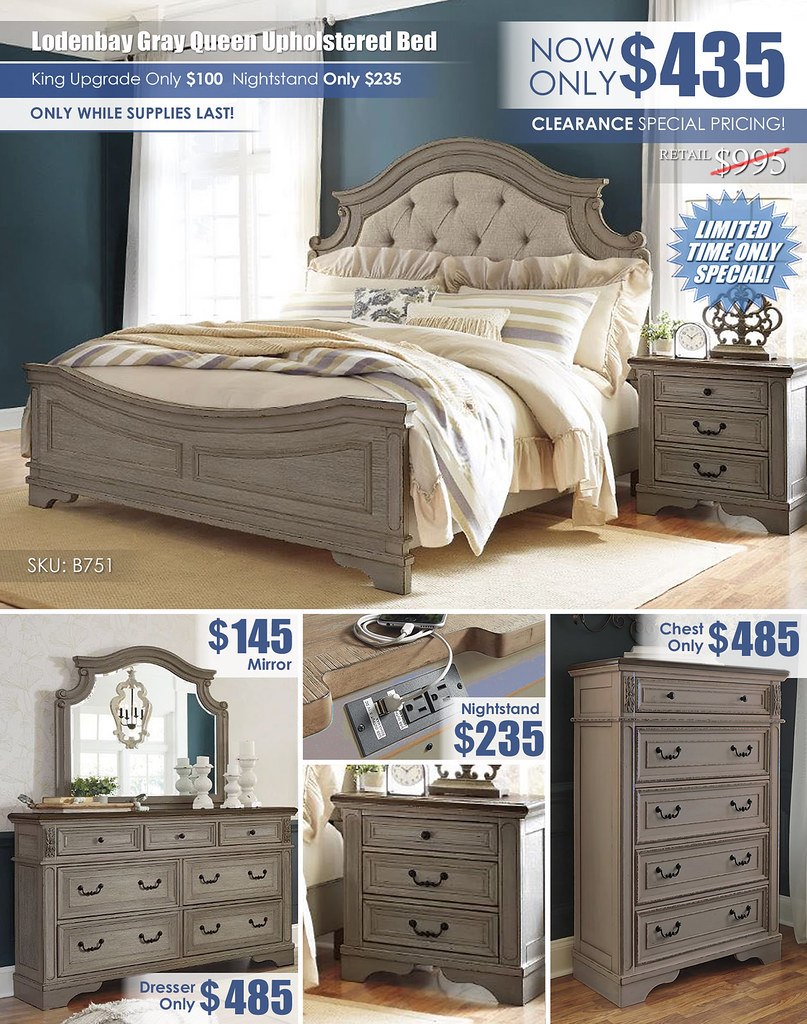 Lodenbay Queen Upholstered Bed Clearance Super_Special Layout_B751