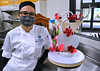 UH Maui College culinary student Sage Gomes with sugar creation.
