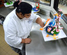 UH Maui College culinary student Alexis Aglugub works with sugar.