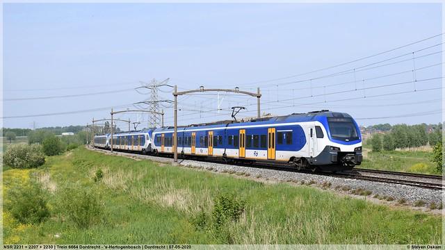 NSR 2231 + 2207 + 2230   Dordrecht   07-05-2020