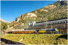 Tren Azul en Canfranc