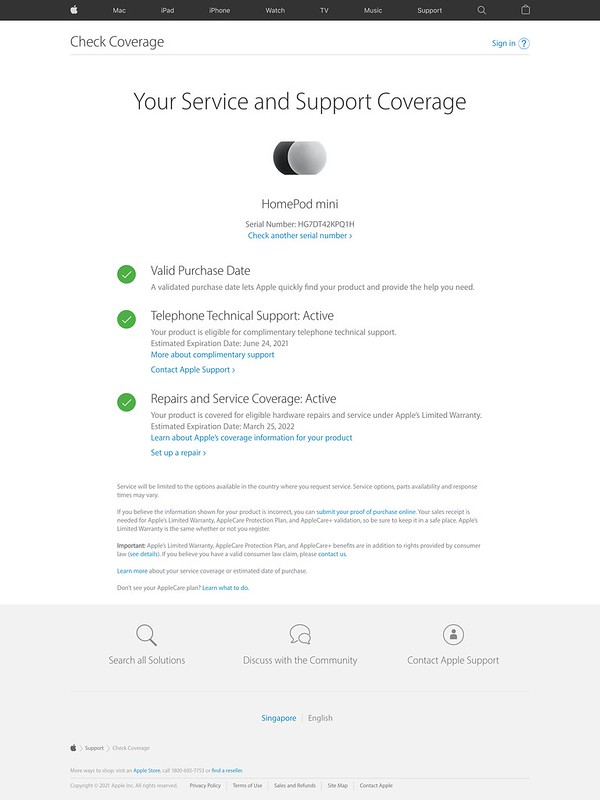 Apple's Service and Support Coverage