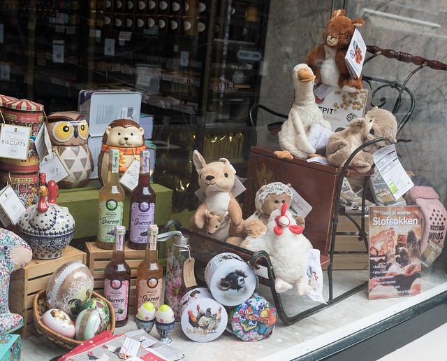 Shop window display, Schoutenstraat, Utrecht