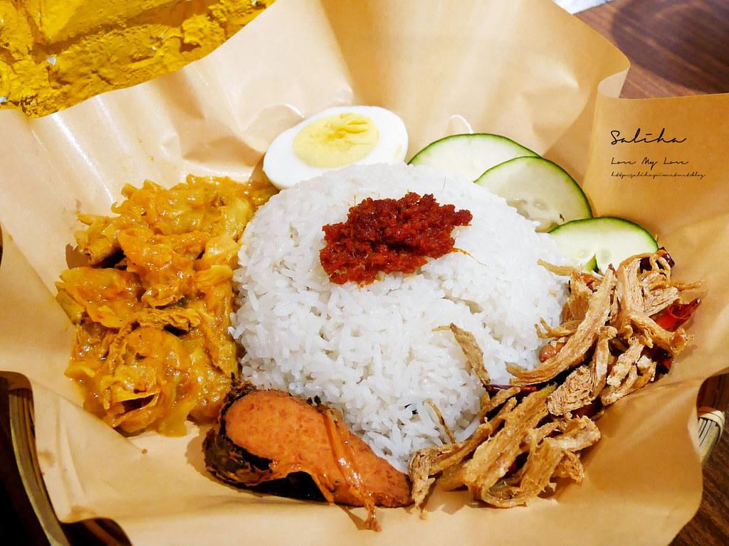 台北素食異國料理推薦寶林咖啡館評價馬來西亞小吃美食素炸雞椰香飯好吃素炒飯 (2)