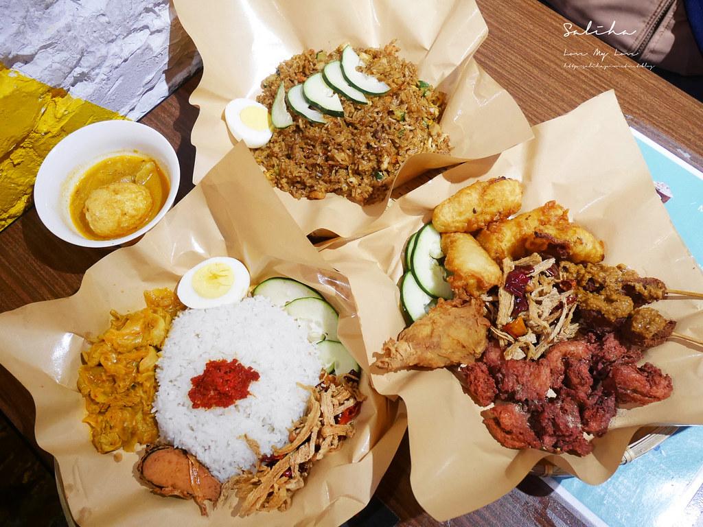台北松山站美食全素食馬來西亞餐廳寶林咖啡館饒河夜市美食推薦異國料理