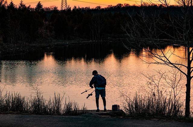 Sunset Fishing - Boulder Pond