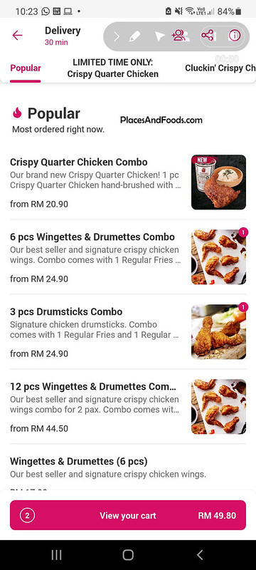 foodpanda 4fingers crispy chicken