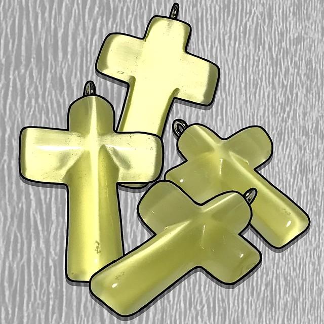 Cateye Glass Cross