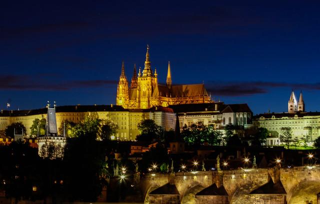 Blue Hour at Prague Castle