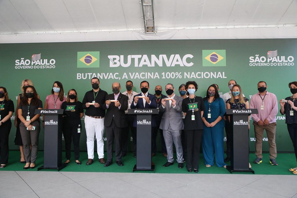Coletiva de Imprensa para o anuncio da ButanVac a vacina 100% nacional