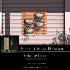 Potted Wall Hangar by Galland Homes