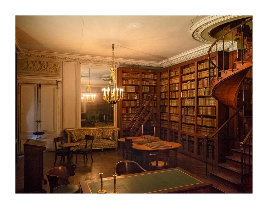 Bibliothèque particulière de Napoléon Ier petits appartements château de Fontainebleau