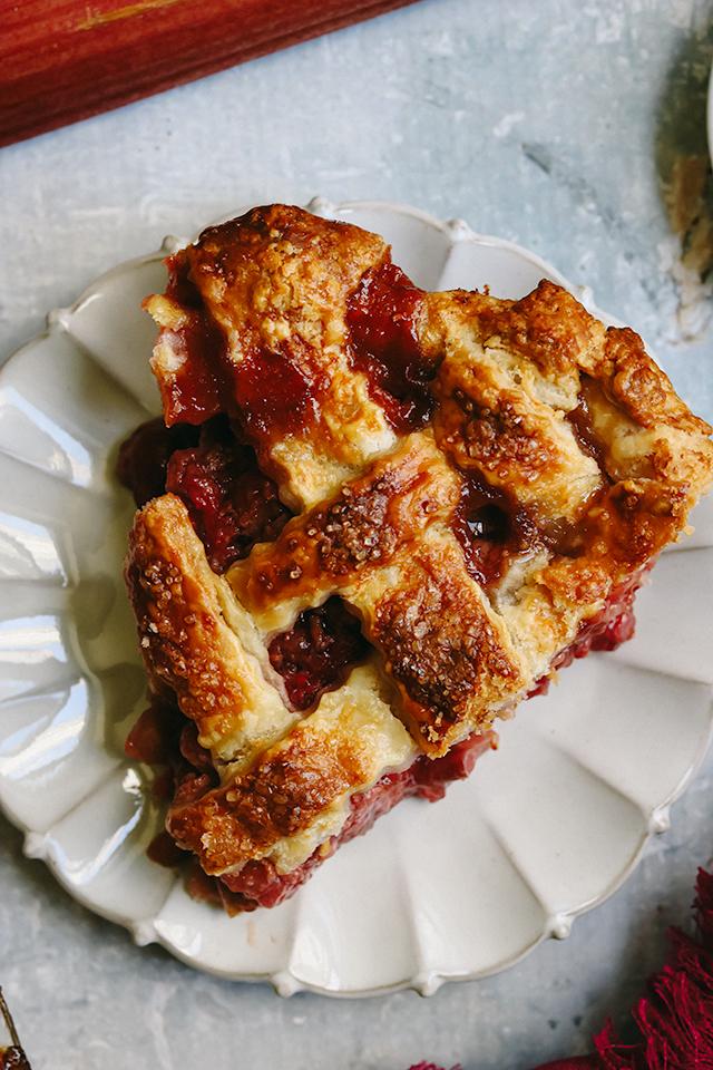Rhubarb Raspberry Lattice Pie