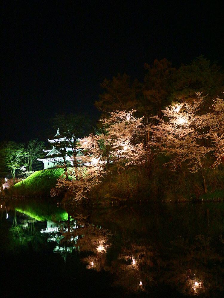Takada Castle at night