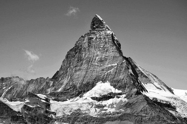 Le rocher haut de 4478m  -  The high rock of 4478m